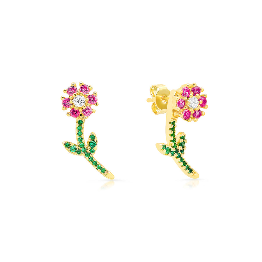 Ruby Daisy Earrings - Lolita Be Mine