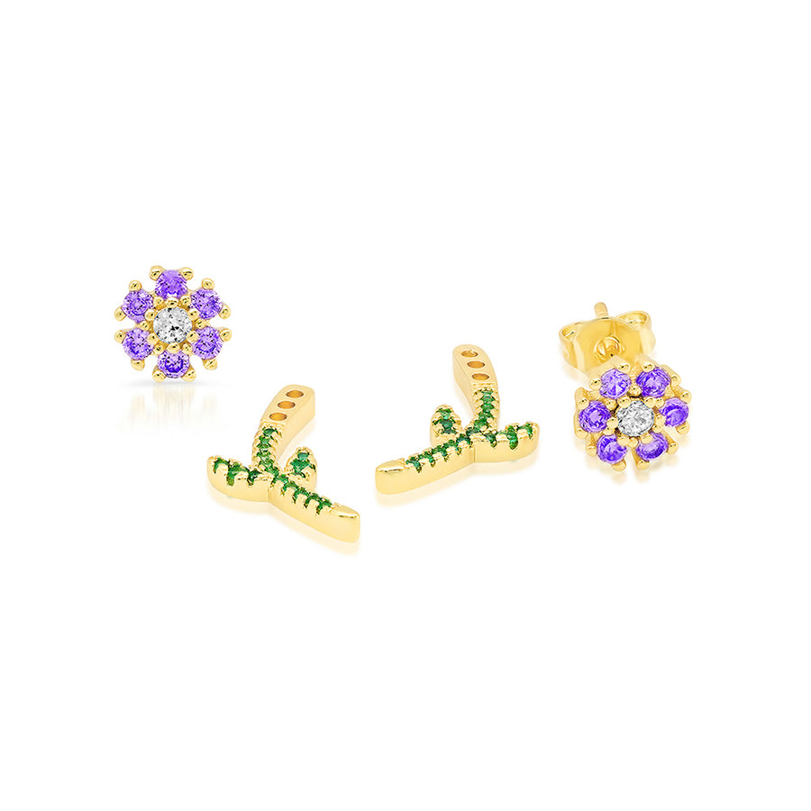 Violet Daisy Earrings - Lolita Be Mine