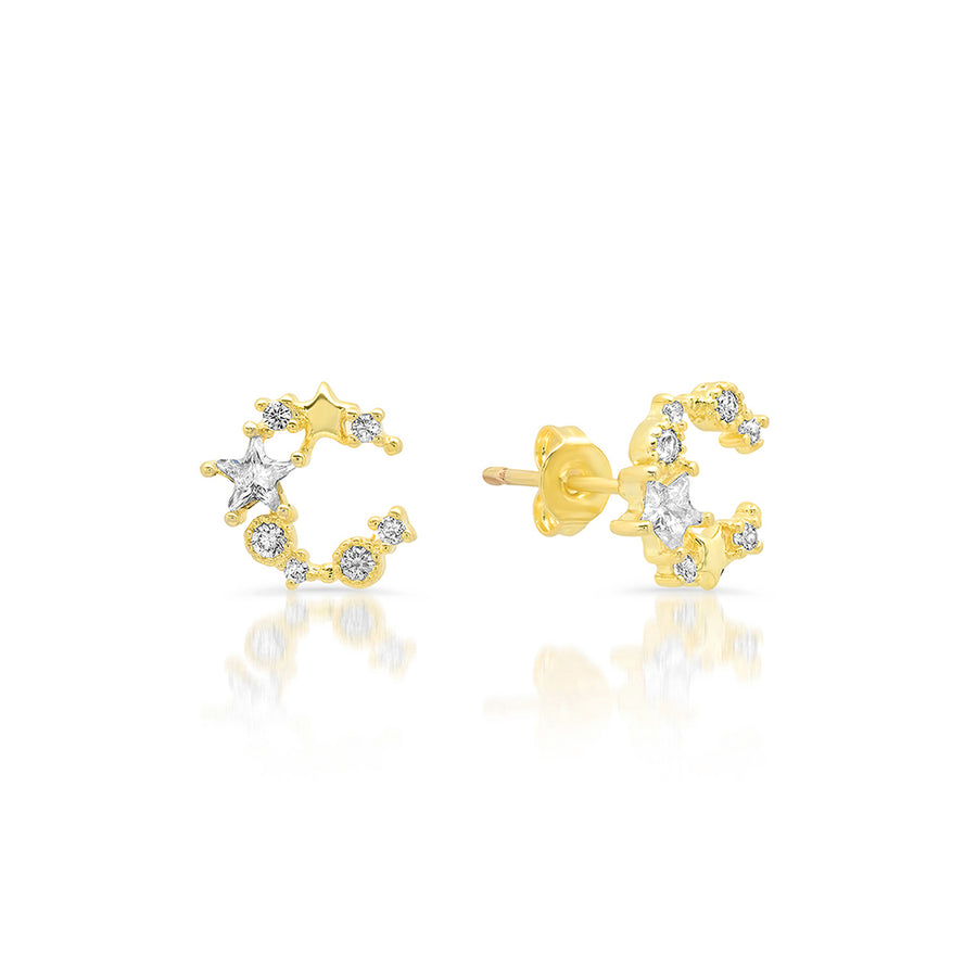 Sparkling Moon Studs - Lolita Be Mine