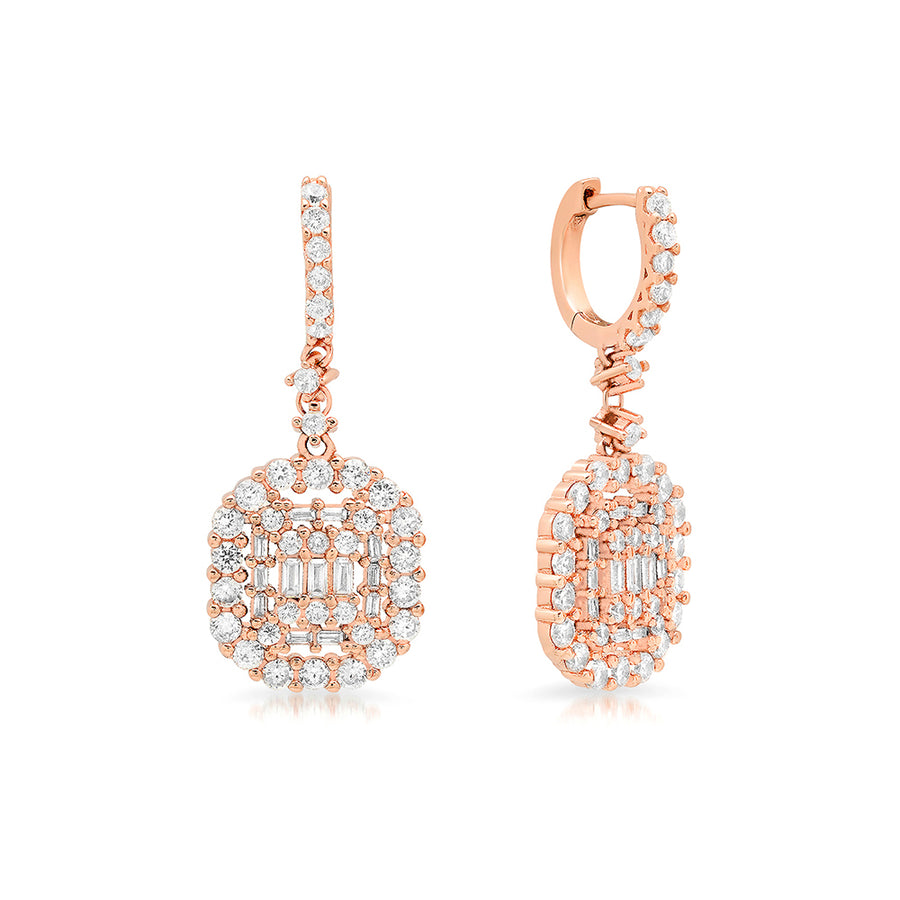 Luxe Geometric Drop Earrings - Lolita Be Mine