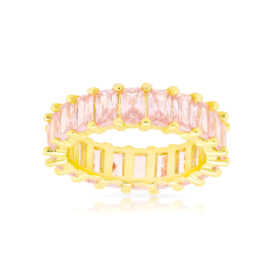 Luxe Pink Emerald Cut Eternity Band - Lolita Be Mine