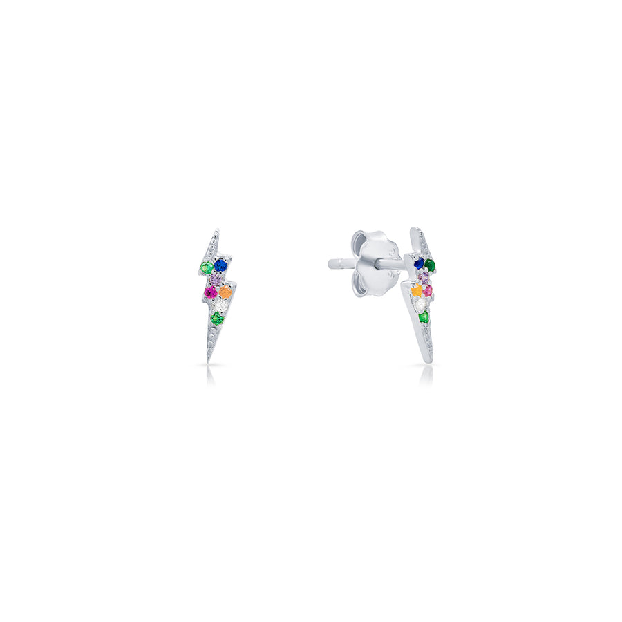 Rainbow Lightning Studs - Lolita Be Mine