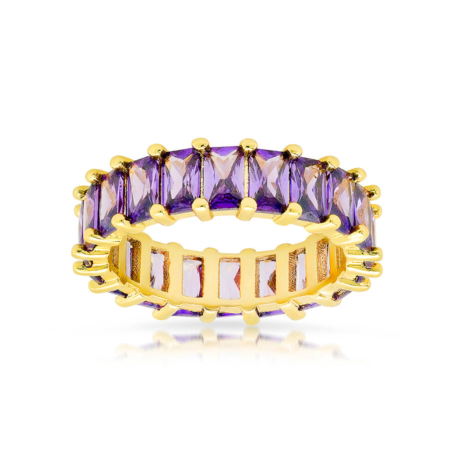 Luxe Violet Emerald Cut Eternity Band - Lolita Be Mine