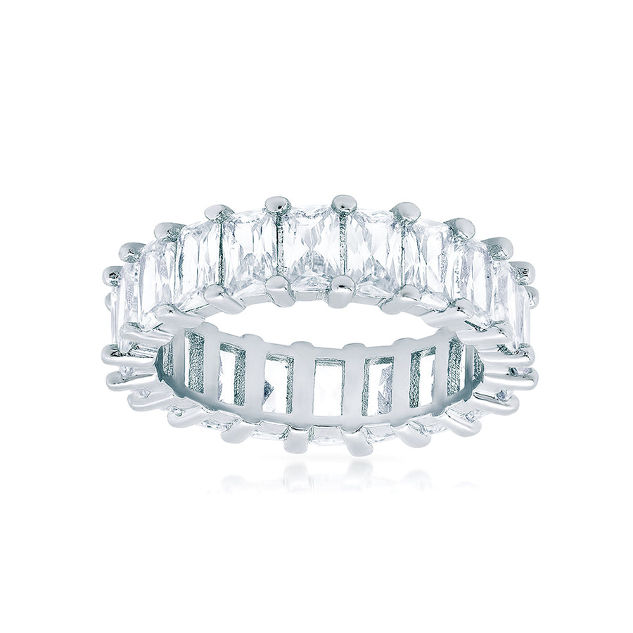 Luxe Emerald Cut Eternity Band - Lolita Be Mine