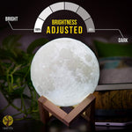 Large Moon Lamp Lighting Night LED 3D Printing Warm Cool White Dimmable