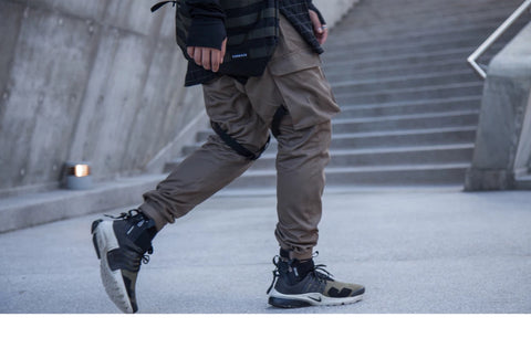 CHRROTA AN-CRS72 Functional cyberpunk multi-pocket sweatpants