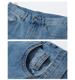 NOTHOMME Street style retro straight jeans