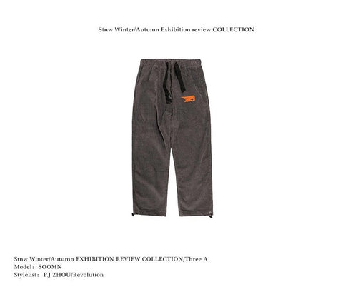 STNW Vintage corduroy spring loose trousers