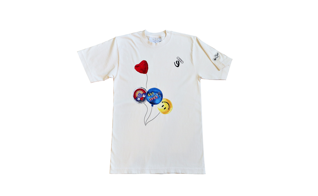 Get Well Soon Tee (Cream/ Multi)