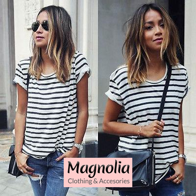 Casual Summer T-Shirt Striped