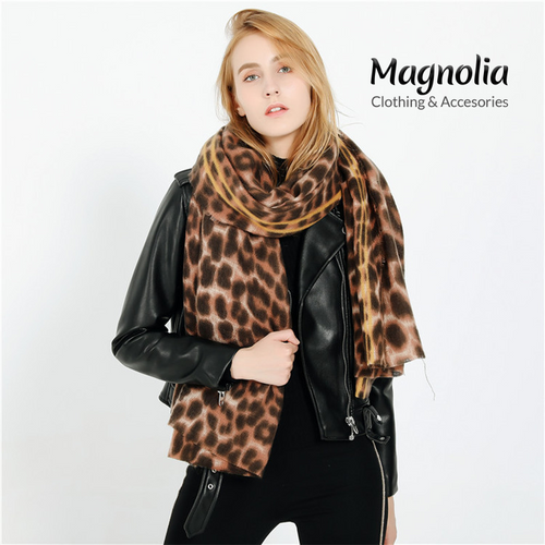 Brown Leopard Cashmere