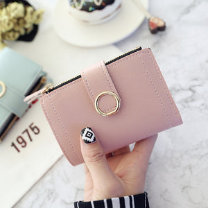 Leather Ladies Clip Wallet