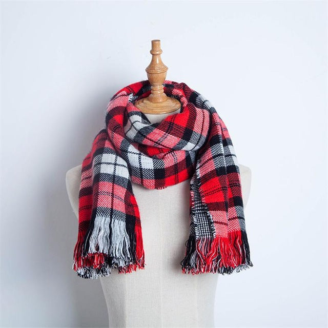 Colorful Plaid Scarf