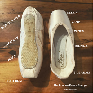 Pointe Shoe Anatomy