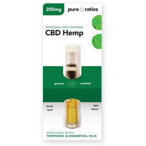 Pure Ratios CBD Hemp Vape Cartridge 200mg-Lift Gift
