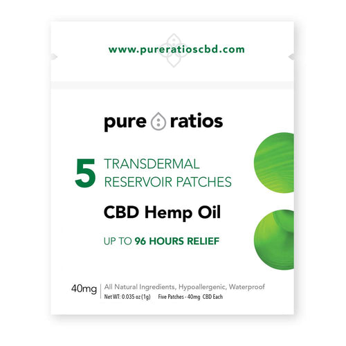 Pure Ratios CBD Topical Hemp Patch -12 pack-Creams-Lift Gift