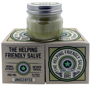 THE HELPING FRIENDLY SALVE - UNSCENTED - 200MG HERBAL EXTRACT TOPICAL