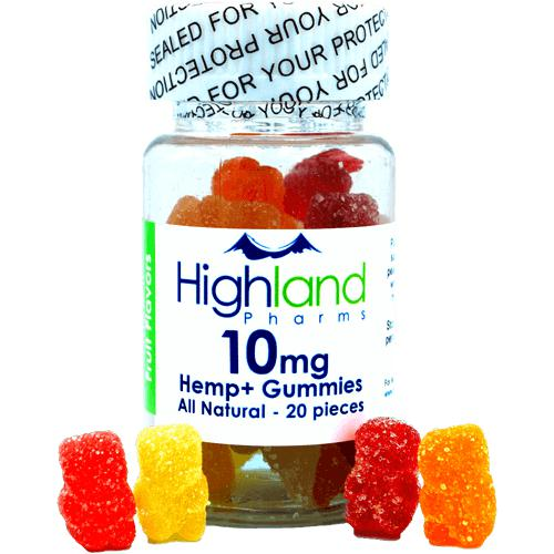 Highland Pharms ALL NATURAL Gummies – 20ct AND 10mg of CBD-Lift Gift