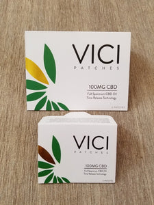 VICI Patches - 100mg CBD 2 Patch Pack