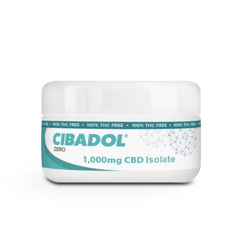 Cibadol ZERO Isolate Powder 1000mg – 99+% Pure CBD THC FREE-Lift Gift
