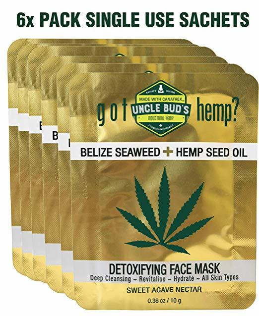 Belize Seaweed Detoxifying Face Mask with Pure Hemp Seed Oil – 6 Pack Bundle-Lift Gift