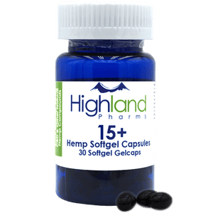 Highland Pharms 15+ Hemp Softgel Capsules 15mg, 30ct-Lift Gift