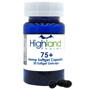 Highland Pharms 75+ – Hemp Softgel Capsules 75mg -30ct-Lift Gift