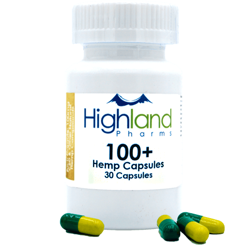 Highland Pharms 100+ – Hemp Vegan Capsules 100mg -30ct-Lift Gift