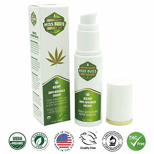 Miss Bud's Hemp Anti-Wrinkle Cream Reduce Line Increase Firmness and Elasticity Made from Pure Hemp Seed Oil-Lift Gift