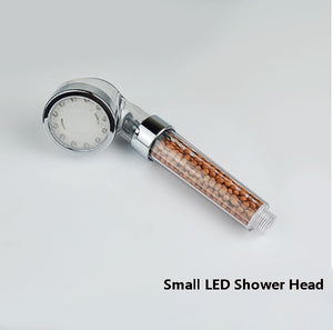 led lights shower head