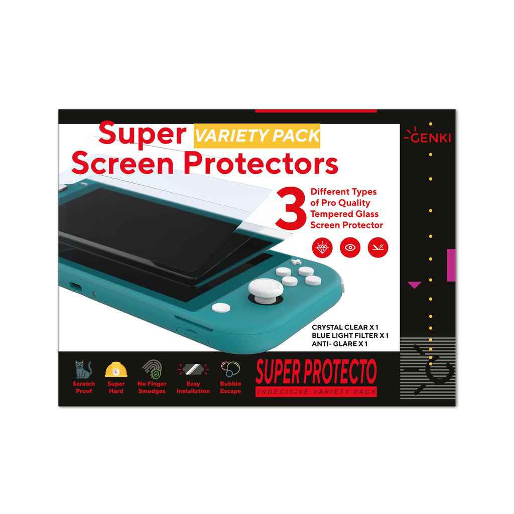GENKI Indecsive Nintendo Switch Lite Super Screen Protector Variety Pack