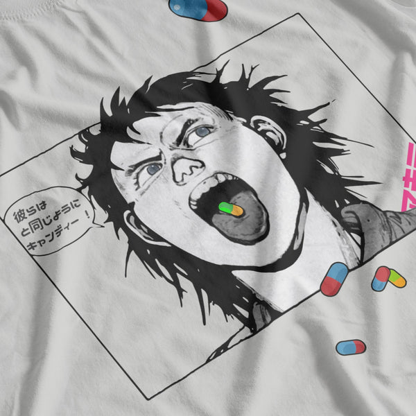 "アキラ - 島 鉄雄 AKIRA Tetsuo ""They're Just Like Candy!"" Japanese Cyberpunk - T-SHIRT"
