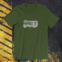 PROPERTY OF MNU  - Spray Paint - District 9 - Alien Tag - T-SHIRT