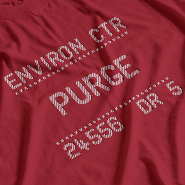 ENVIRON CTR PURGE 24556 DE 5  - Alien & Blade Runner easter-egg the missing link - T-SHIRT