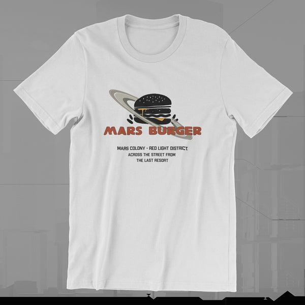 MARS BURGER - TOTAL RECALL - 1990 - T-SHIRT