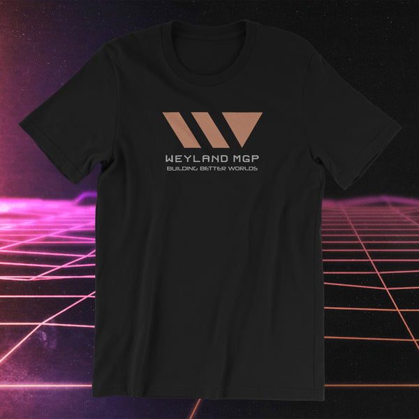 WEYLAND Megacorp - MGP , Early Concept PROMETHEUS, The Furious Gods - T-SHIRT