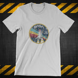 NASA - Space Shuttle Rainbow retro vintage - distressed print