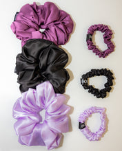 Load image into Gallery viewer, Black Jumbo Silk Scrunchie