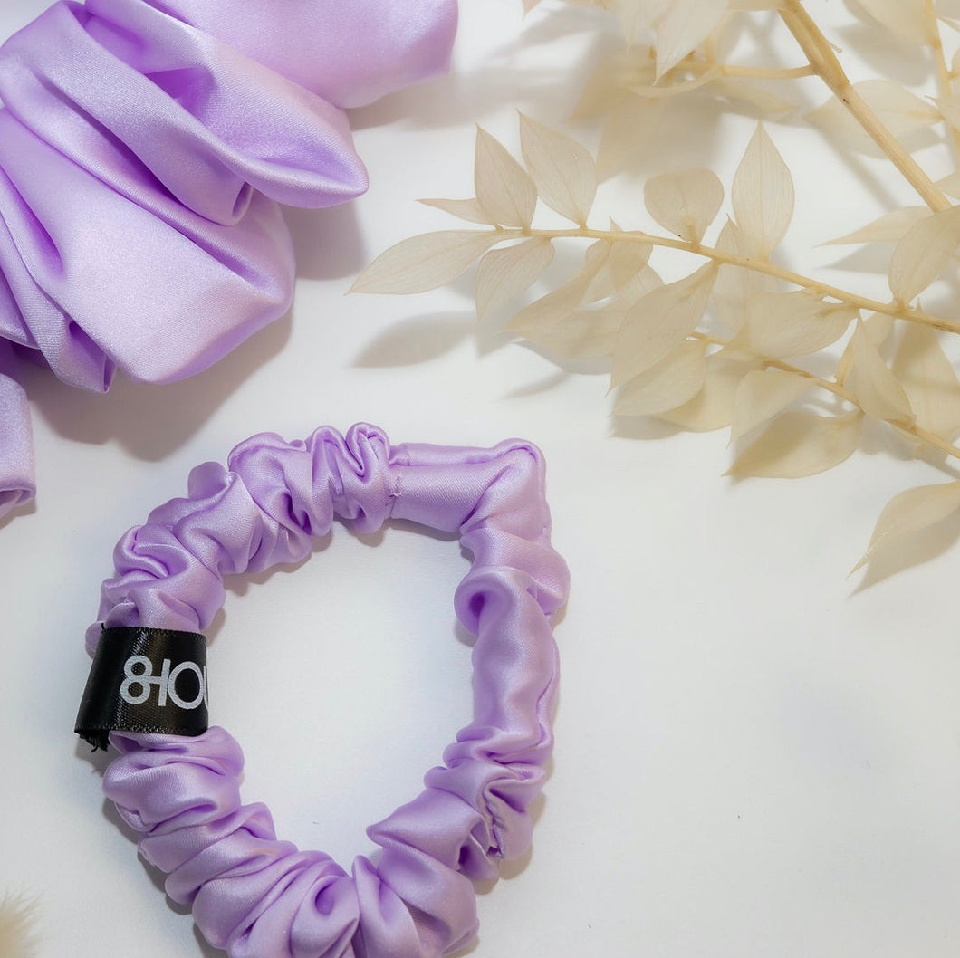 Lilac Sleep Silk Scrunchie (Small)