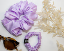 Load image into Gallery viewer, Lilac Sleep Silk Scrunchie (Small)