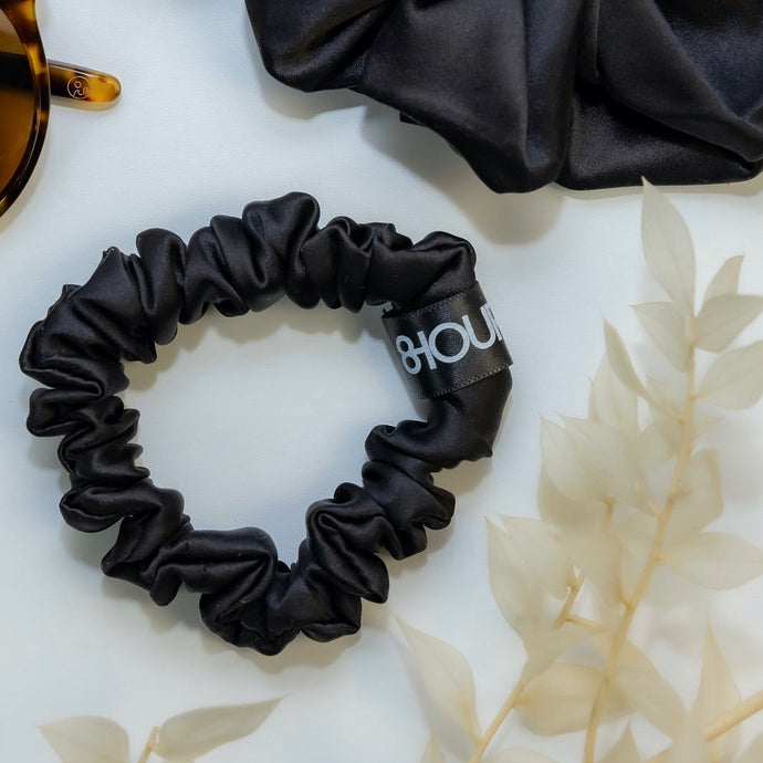 Black Sleep Silk Scrunchie (Small)