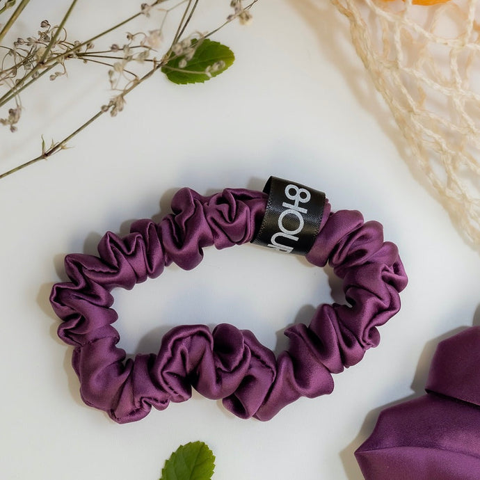 Wine Sleep Silk Scrunchie (Small)