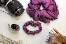 Load image into Gallery viewer, Wine Jumbo Silk Scrunchie