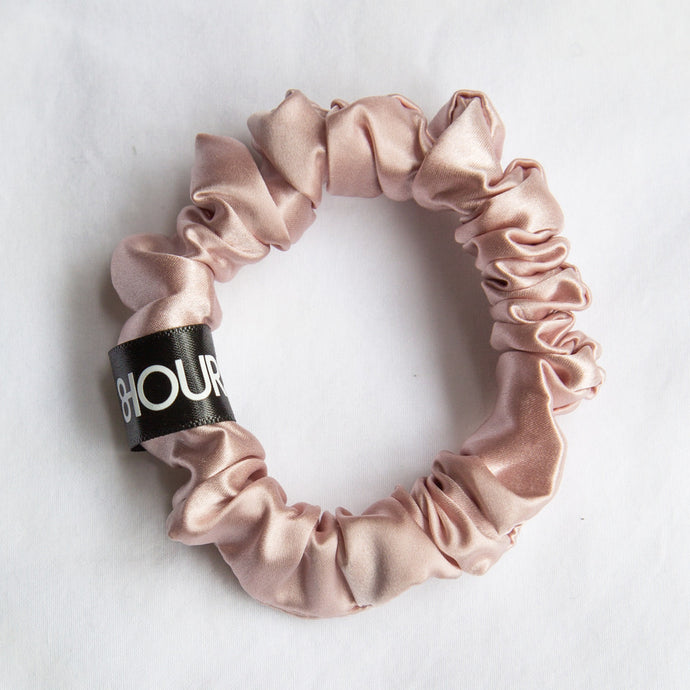 Pink Sleep Silk Scrunchie (Small)