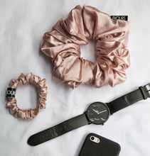 Load image into Gallery viewer, Pink Jumbo Silk Scrunchie