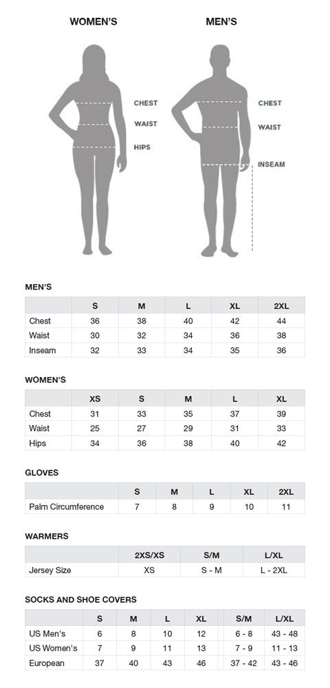 Size Chart  Capo Cycling