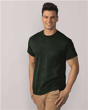 Brand: Gildan | Style: 8300 | Product: DryBlend 50/50 T-Shirt with a Pocket