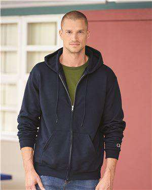 Brand: Champion | Style: S800 | Product: Double Dry Eco Full-Zip Hooded Sweatshirt