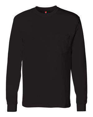 Hanes Men's Tagless® Pocket Long Sleeve T-Shirt