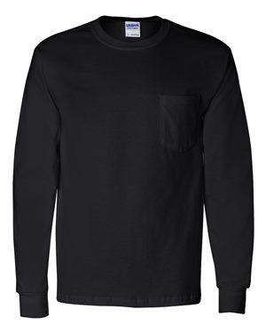 Gildan Men's Pocket Long Sleeve T-Shirt